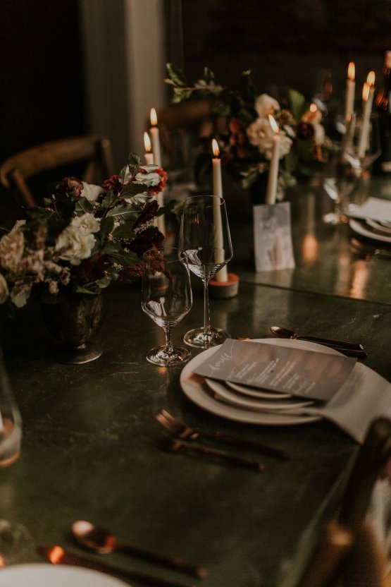 Industrial Cool Meats Winery Warmth; Candlelit Wedding Ideas | The Gifford Collective | Genesis Geiger 19