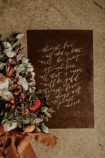 Industrial Cool Meats Winery Warmth; Candlelit Wedding Ideas | The Gifford Collective | Genesis Geiger 20