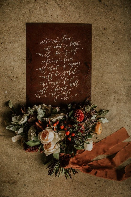 Industrial Cool Meats Winery Warmth; Candlelit Wedding Ideas | The Gifford Collective | Genesis Geiger 21