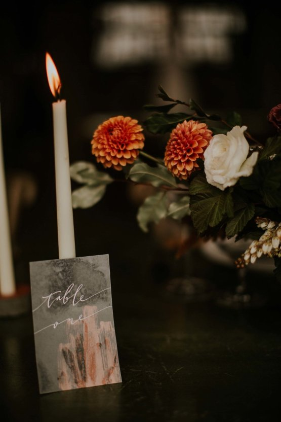 Industrial Cool Meats Winery Warmth; Candlelit Wedding Ideas | The Gifford Collective | Genesis Geiger 7