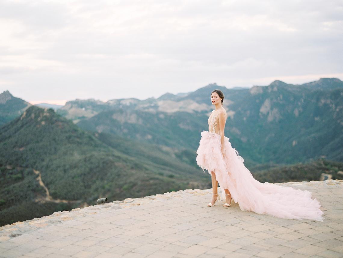 Malibu Wedding Inspiration With A Ruffled Pink Dress | Pura Vida Photography 12
