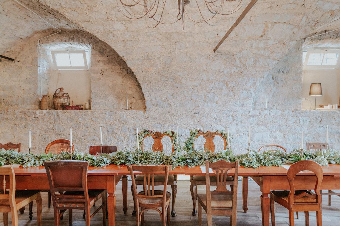 Monstera Leaves & Artichokes; A Hip Slovenian Wedding | Karen Willis Holmes Bridal | Aljosa Videtic 1