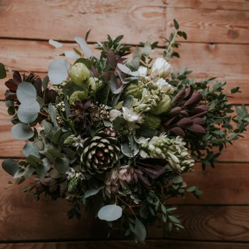 Monstera Leaves & Artichokes; A Hip Slovenian Wedding | Karen Willis Holmes Bridal | Aljosa Videtic 2