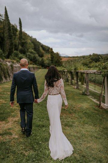 Monstera Leaves & Artichokes; A Hip Slovenian Wedding   Karen Willis Holmes Bridal   Aljosa Videtic 32
