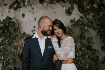 Monstera Leaves & Artichokes; A Hip Slovenian Wedding   Karen Willis Holmes Bridal   Aljosa Videtic 9