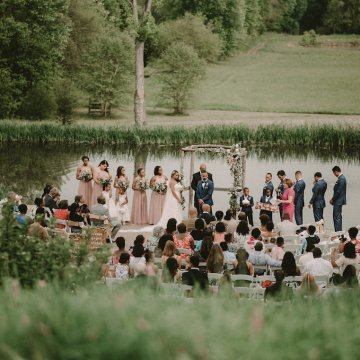 Pretty Pink Countryside Wedding (With Cute Aisle Signage) | Barkerture Photo 11