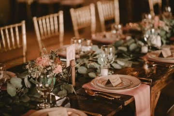 Pretty Pink Countryside Wedding (With Cute Aisle Signage) | Barkerture Photo 15