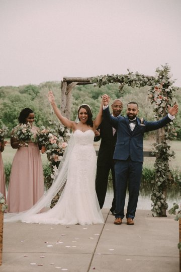 Pretty Pink Countryside Wedding (With Cute Aisle Signage) | Barkerture Photo 29