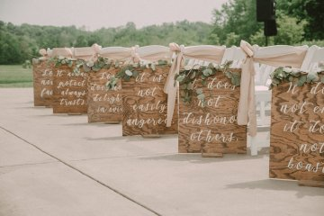 Pretty Pink Countryside Wedding (With Cute Aisle Signage) | Barkerture Photo 3