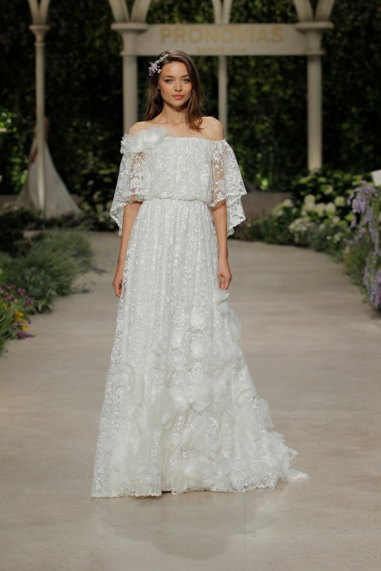 Pronovias 2019 In Bloom Wedding Dress Collection | Carine 2