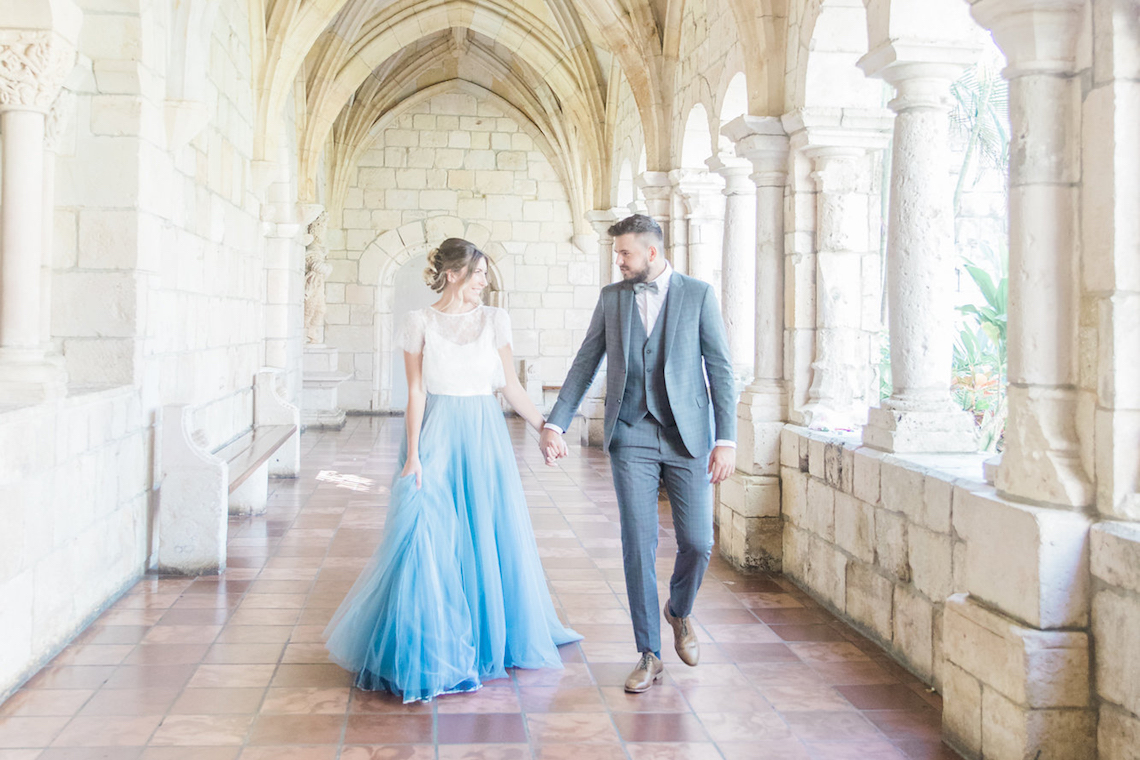 Romantic Watercolor Ideas Featuring A Blue Wedding Dress | Cana Rose Photography 1