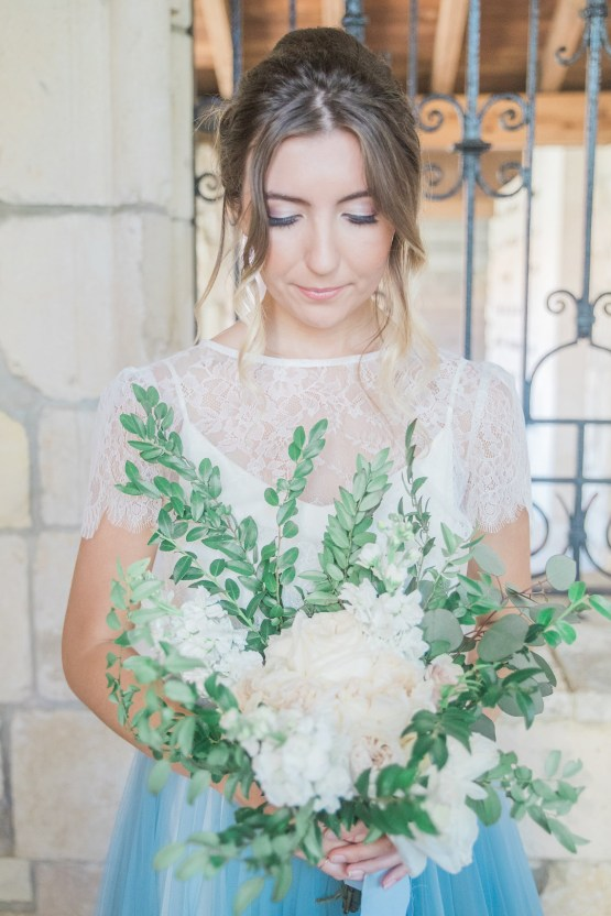 Romantic Watercolor Ideas Featuring A Blue Wedding Dress | Cana Rose Photography 12