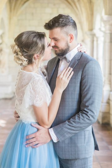 Romantic Watercolor Ideas Featuring A Blue Wedding Dress | Cana Rose Photography 20