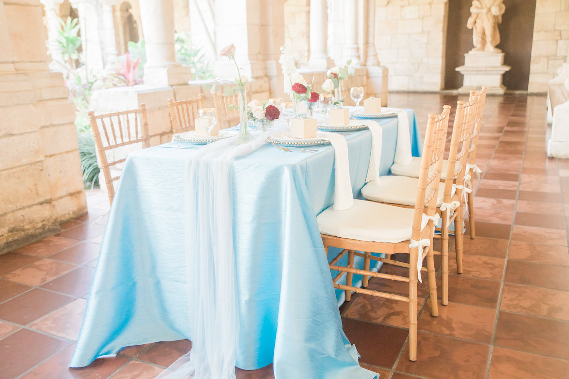 Romantic Watercolor Ideas Featuring A Blue Wedding Dress | Cana Rose Photography 3