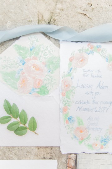 Romantic Watercolor Ideas Featuring A Blue Wedding Dress | Cana Rose Photography 31