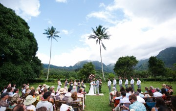 Lush & Tropical Hawaiian Plantation Wedding