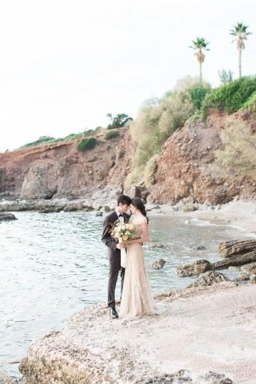 Earthy Organic Seaside Wedding Inspiration (& A Nude Wedding Dress) | George Liopetas 10