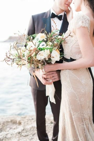 Earthy Organic Seaside Wedding Inspiration (& A Nude Wedding Dress) | George Liopetas 15