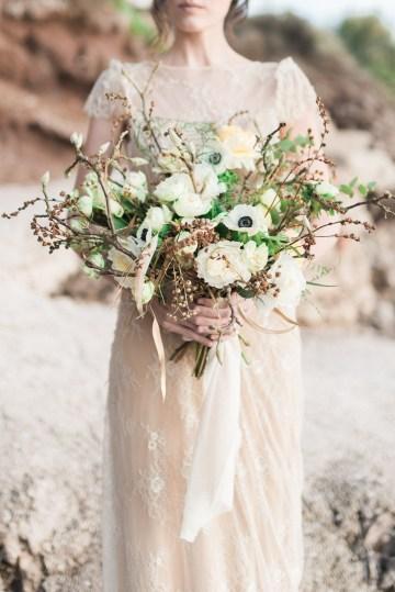 Earthy Organic Seaside Wedding Inspiration (& A Nude Wedding Dress) | George Liopetas 18
