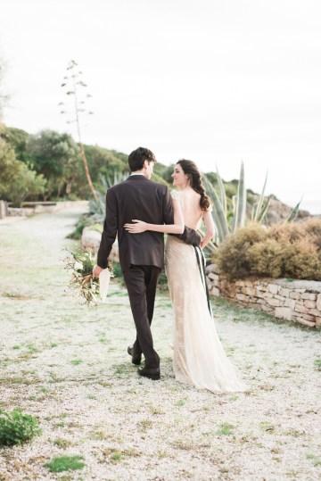 Earthy Organic Seaside Wedding Inspiration (& A Nude Wedding Dress) | George Liopetas 20