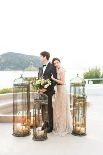 Earthy Organic Seaside Wedding Inspiration (& A Nude Wedding Dress) | George Liopetas 41