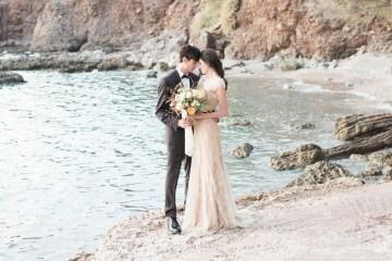 Earthy Organic Seaside Wedding Inspiration (& A Nude Wedding Dress) | George Liopetas 43