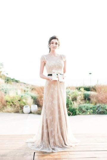 Earthy Organic Seaside Wedding Inspiration (& A Nude Wedding Dress) | George Liopetas 8