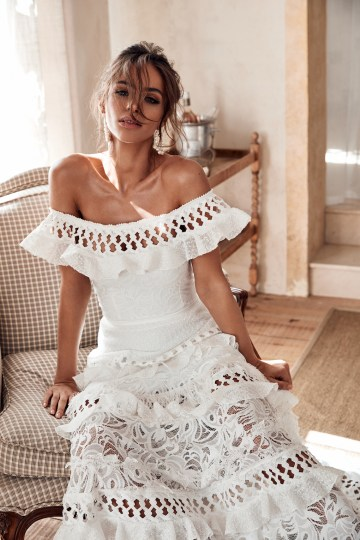 Free-Spirited Bohemian Icon Wedding Dress Collection by Graces Loves Lace | Coco 1