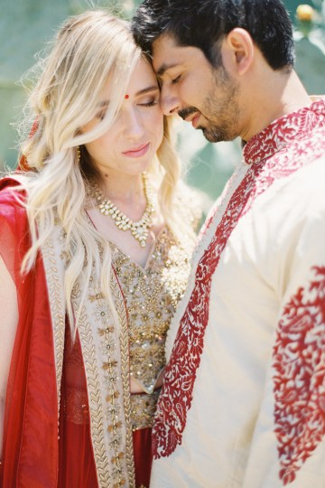 Hindu American Fusion Wedding (With Peonies) | Bramble and Vine 10