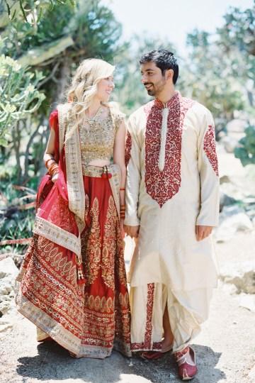 Hindu American Fusion Wedding (With Peonies) | Bramble and Vine 12