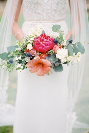 Hindu American Fusion Wedding (With Peonies) | Bramble and Vine 41