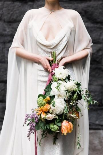 Sparkling Art Deco Wedding Inspiration From NYC | Mibellarosa | Jenny Fu Studio 20