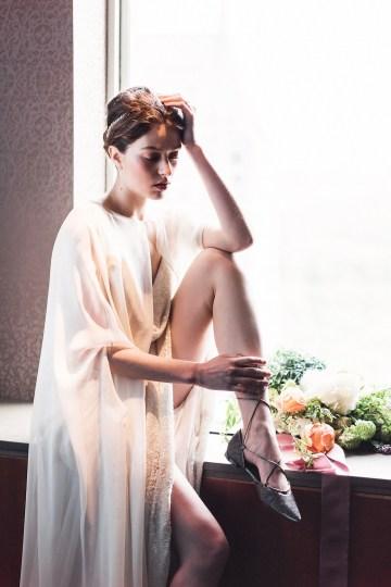 Sparkling Art Deco Wedding Inspiration From NYC | Mibellarosa | Jenny Fu Studio 21