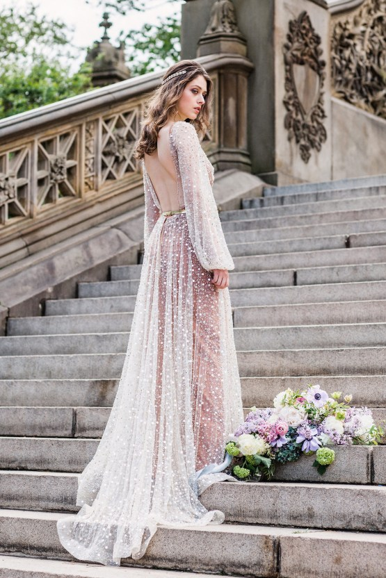 Sparkling Art Deco Wedding Inspiration From NYC | Mibellarosa | Jenny Fu Studio 26