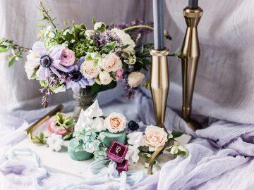 Sparkling Art Deco Wedding Inspiration From NYC | Mibellarosa | Jenny Fu Studio 33