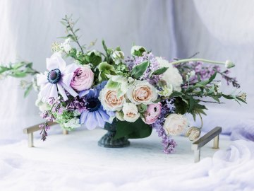 Sparkling Art Deco Wedding Inspiration From NYC | Mibellarosa | Jenny Fu Studio 38