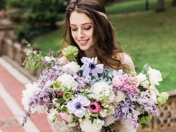 Sparkling Art Deco Wedding Inspiration From NYC | Mibellarosa | Jenny Fu Studio 42