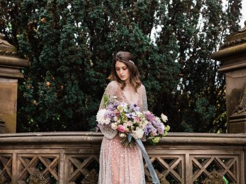 Sparkling Art Deco Wedding Inspiration From NYC | Mibellarosa | Jenny Fu Studio 44