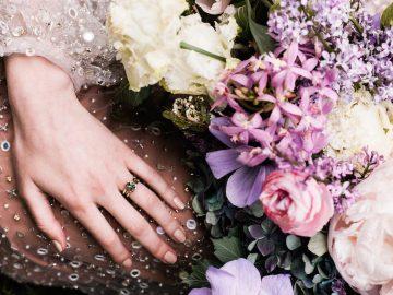 Sparkling Art Deco Wedding Inspiration From NYC | Mibellarosa | Jenny Fu Studio 45