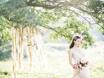 Whimsical Meadow Wedding Inspiration With Dried Florals   Olea & Fig Studio   The Stage Photography 41
