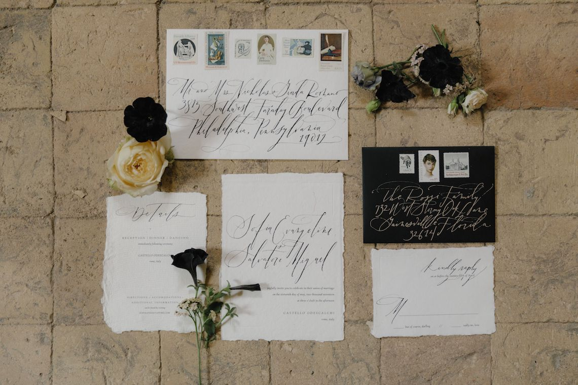 Ancient Rome Meets Mod Yellows & Sophisticated Black In This Timeless Wedding Inspiration | Cinzia Bruschini 1