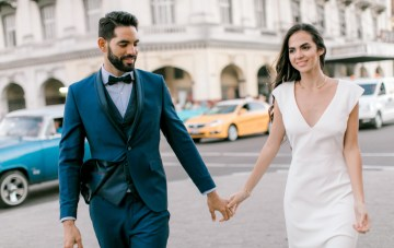 Dreamy & Stylish Modern Havana Elopement