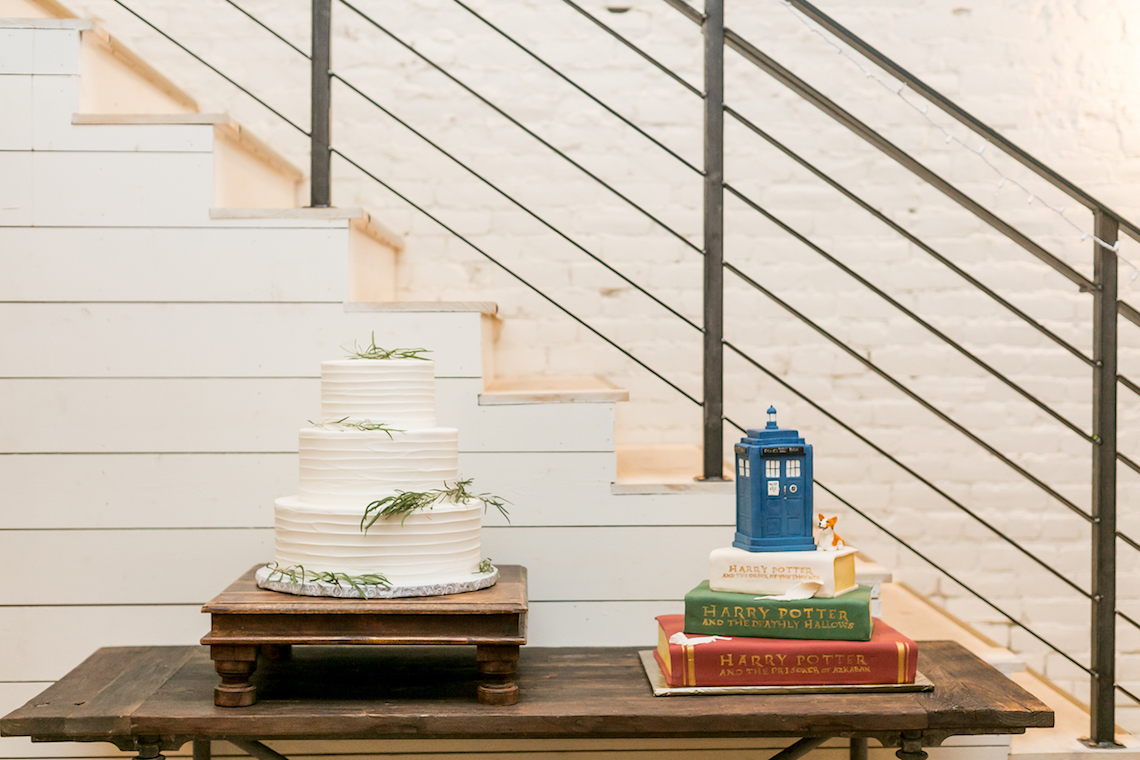 Literary Chic Loft Wedding (With A Harry Potter Cake!) | Brio Photography 11