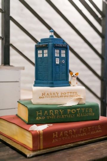 Literary Chic Loft Wedding (With A Harry Potter Cake!)   Brio Photography 37