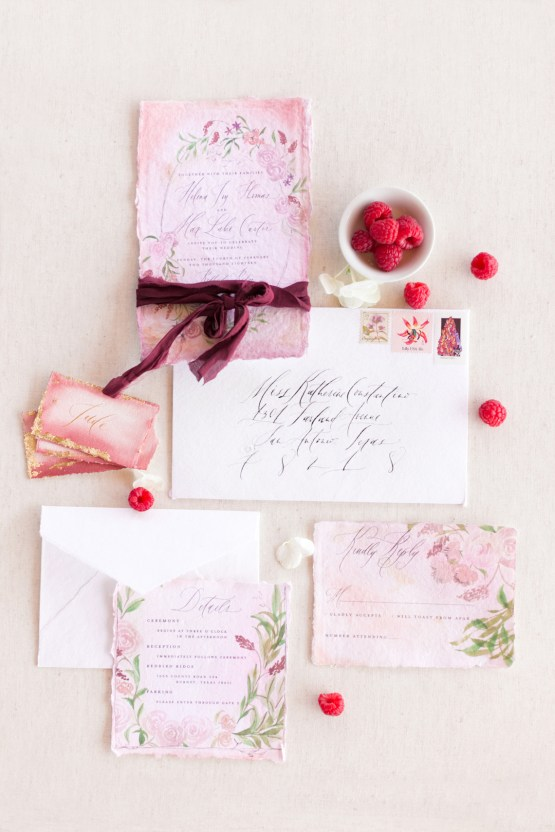 Summer Berry Wedding Ideas From The Hill Country | Jessica Chole 11