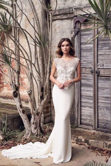 The Romantic & Sparkling Anna Campbell Wanderlust Wedding Dress Collection | Aria Dress (Crepe de Chine)-1