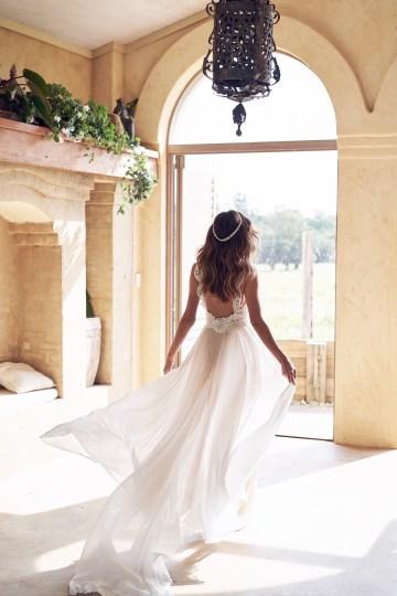 The Romantic & Sparkling Anna Campbell Wanderlust Wedding Dress Collection | Jamie Dress (Summer Skirt)-5