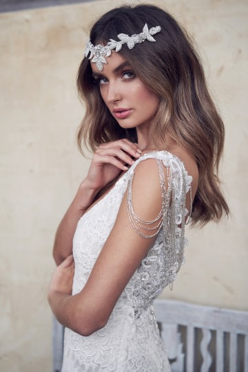 The Romantic & Sparkling Anna Campbell Wanderlust Wedding Dress Collection | Olive Headpiece-1