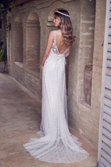 The Romantic & Sparkling Anna Campbell Wanderlust Wedding Dress Collection | Paige Dress (Embellished)-3