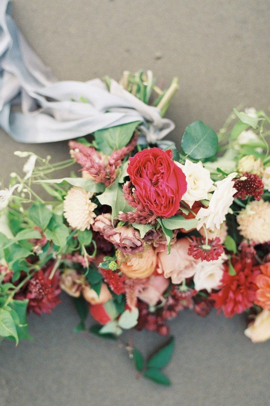 Artistic Burgundy & Fig Beach Wedding Inspiration | Rosencrown Photography 33